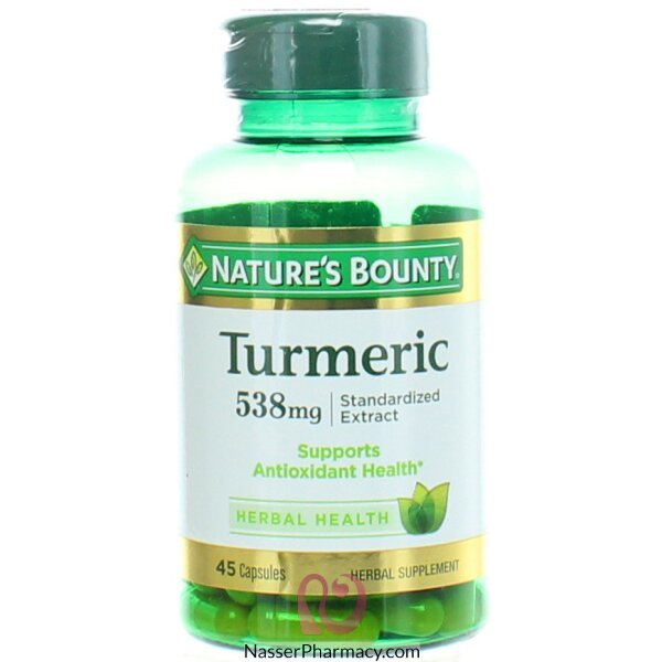 Nature's Bounty Turmeric 538 Mg, 45 Capsules