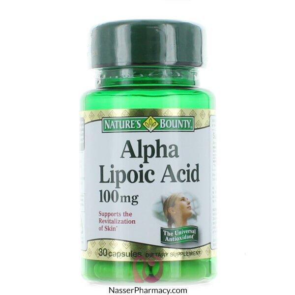 Nature's Bounty Alpha Lipoic Acid 100mg - 30 Capsules