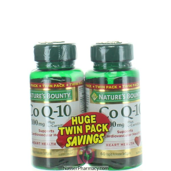 Nature's Bounty Co Q10+ L-carnitine Twin