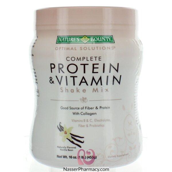 Nature's Bounty Complete Protein & Vitamin Shake Mix  With Vanilia 16 Oz 16 Oz
