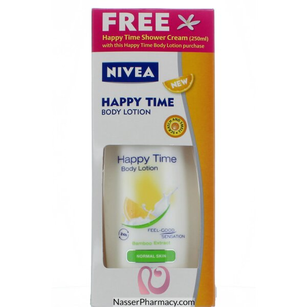 Nivea Body Happy Time Lotion+foc Shower -250ml