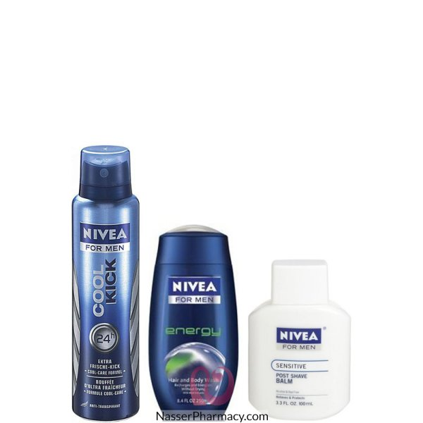 70cb67c04 تسوق أونلاين NIVEA (E) FOR MEN AF SHAVE BALM&SHOWR DEO FO - 40605 من ...