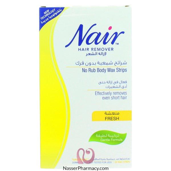 شرائح شمعية Nair  لازالة شعر الجسم -20 شريحة