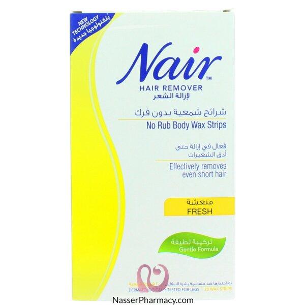 نيرnair شرائح شمعية منعشة لإزالة شعر الجسم - 20 شريحة