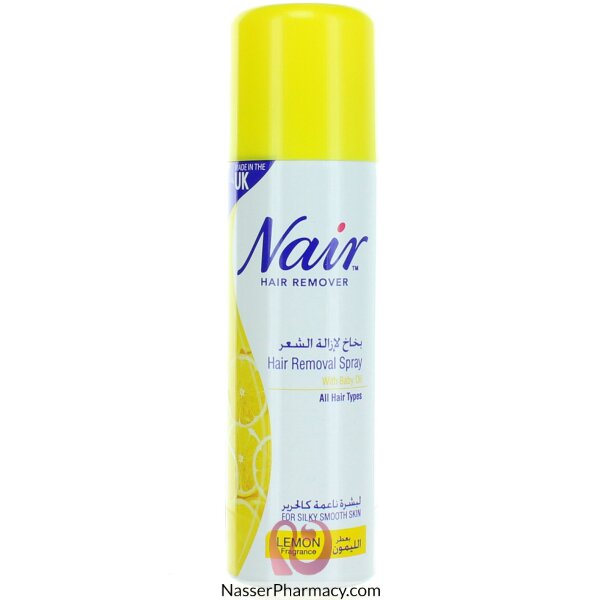 Buy Nair Lemon Hair Removal Spray 200ml From Nasser Pharmacy In