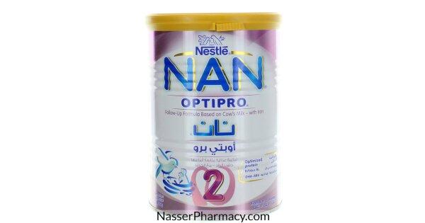 تسوق أونلاين نان 2 اوبتي برو Nan 2 Optipro حليب بودرة للأطفال 6 12 شهر 400 جرام من صيدليات ناصر البحرين