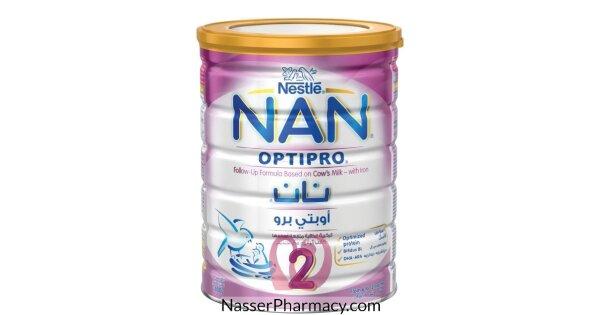 تسوق أونلاين نان 2 اوبتي برو Nan 2 Optipro حليب بودرة للأطفال 6 12 شهر 800 جرام من صيدليات ناصر البحرين