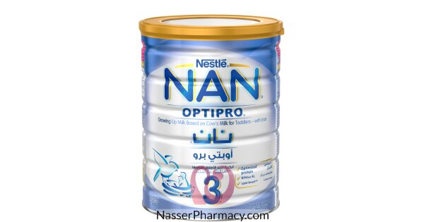 تسوق أونلاين نان 3 اوبتي برو Nan 3 Optipro حليب بودرة للأطفال 1 3 سنوات 800 جرام من صيدليات ناصر البحرين