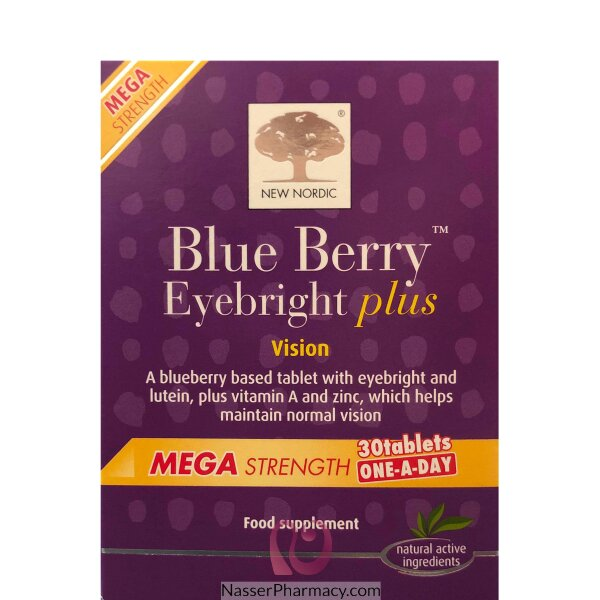 New Nordic Blueberry Mega 30-tablets