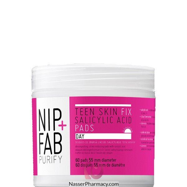 نيب + فاب Nip + Fab  حشوات نهارية Teen Skin Fix Salicylic Acid للعناية ببشرة المراهقين، 60 قطعة
