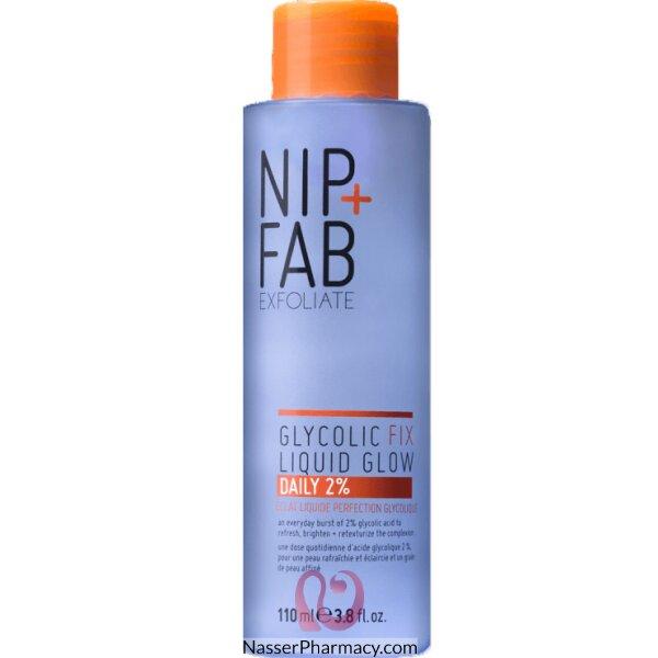 نيب + فاب Nip + Fab سائل Glycolic Fix Liquid Glow Daily 2% لبشرة مشرقة، 110 ملل