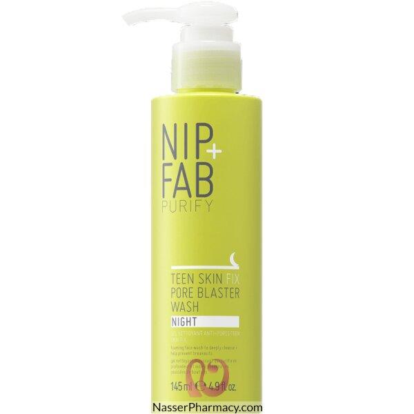 نيب + فاب Nip + Fab غسول ليلي Teen Skin Fix Pore Blaster لتنقية مسام بشرة المراهقين، 145 ملل