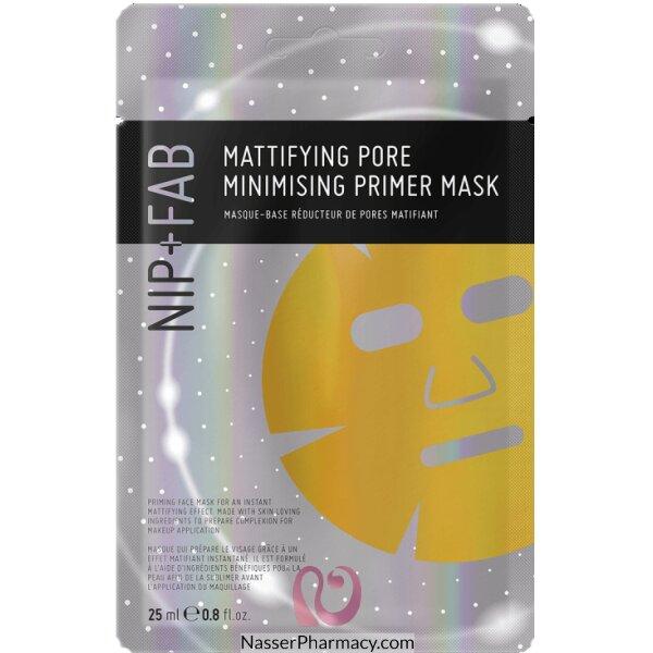 نيب + فاب Nip + Fab قناع للوجه Primer Sheet Mask مزيل للمعان ومقلل للمسام، 25 ملل