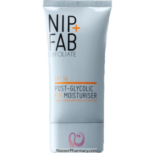 نيب + فاب Nip + Fab مرطب Post-glycolic Fix Moisturiser  بعامل وقاية من الشمسspf30، حجم 40 ملل