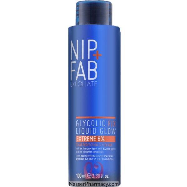 نيب + فاب Nip + Fab مقشر سائل Glycolic Fix Liquid Glow Extreme لبشرة أكثر إشراقا، 100 ملل