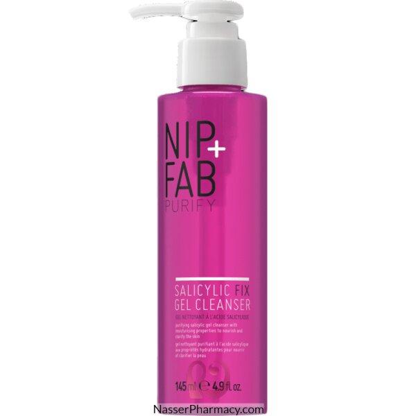 نيب +  فاب Nip+fab  جل منظف للبشرة بحمض الساليسيليك 145 مل