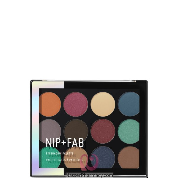 Nip + Fab Eye Shadow Palette Jewelled, 12 Gm