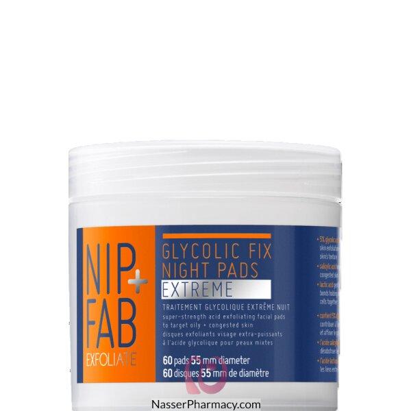 Nip + Fab Glycolic Fix Night Pads Extreme, 60 Pads