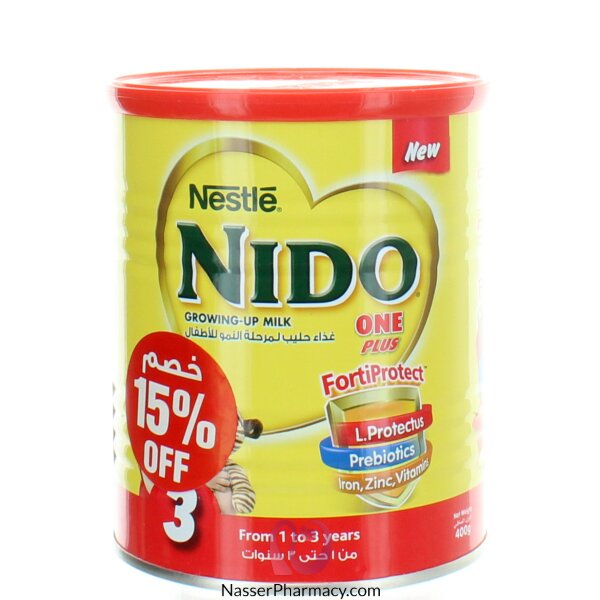 NestlÉ  Nido One Plus With Fortiprotect 400g 15% Off
