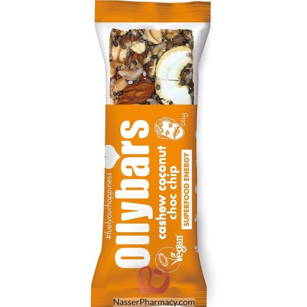 Olly Bars Cashew Coconut Choc Chip Bar 60g