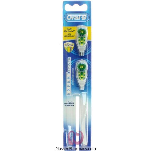 رؤوس فرشاة الأسنان البديلة أورال-بي كروس أكشن باور ماكس المضادة للبكتيريا