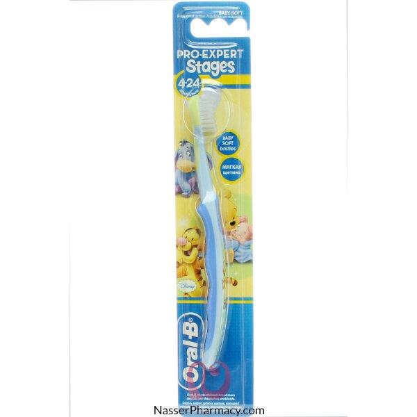 فرشاة أسنان الأطفال أورال-بي برو-إكسبرت ستايجز 1 (4-24 شهرًا) - ناعمة