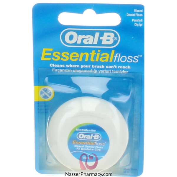 Oral B Floss Essential Waxed 50m