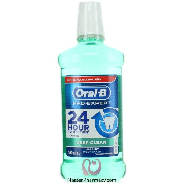 Oral B M/wash Pro Expert Deep Clean Mild Mint 500ml