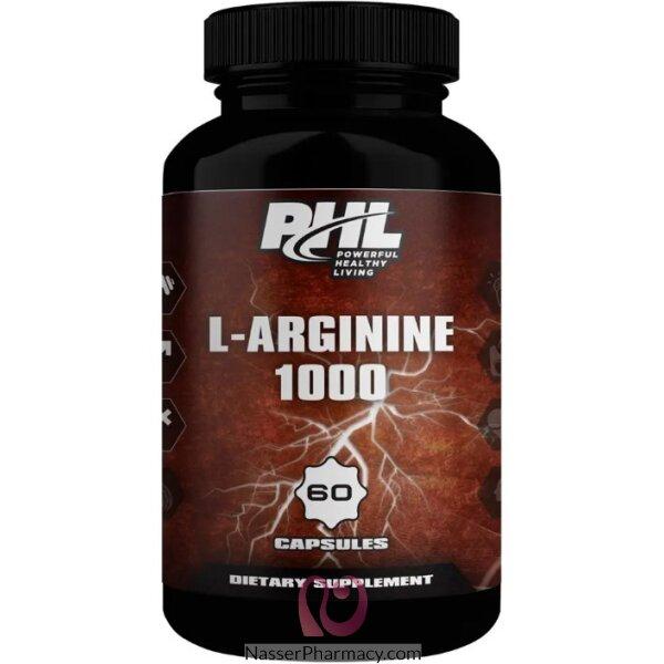 بى اتش ال Phl - ال أرجينين - 100 مجم - 60 كبسولة