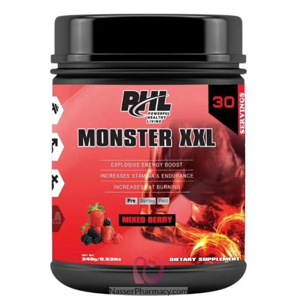بى اتش ال  Phl  (moster Xxl)   بودرة  قبل التمرين  بنكهة التوت - 30 جرعة