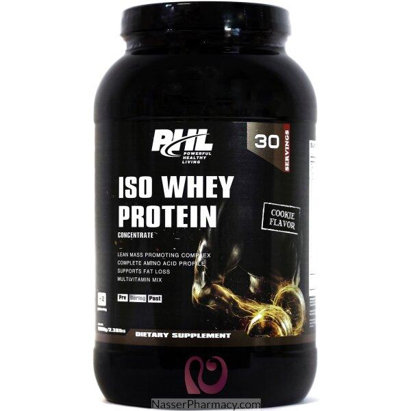 بي اتش إل Phl  مصل اللبن  Iso Whey Protein بنكهة الكوكيز، 30 حصة