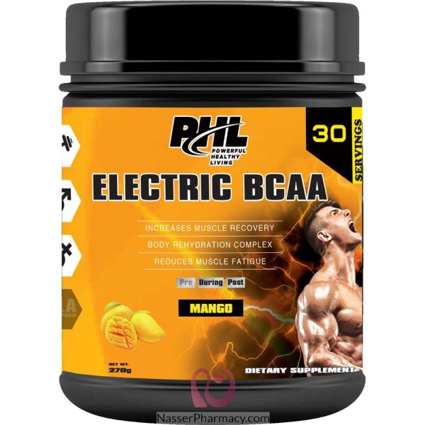بي اتش ال  Phl  Electric Bcaa Pro-series Pwd  مانجو، 270 جرام