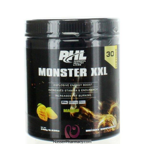 Phl Pre- Workout (monster Xxl) Powder Mango 30 Serving