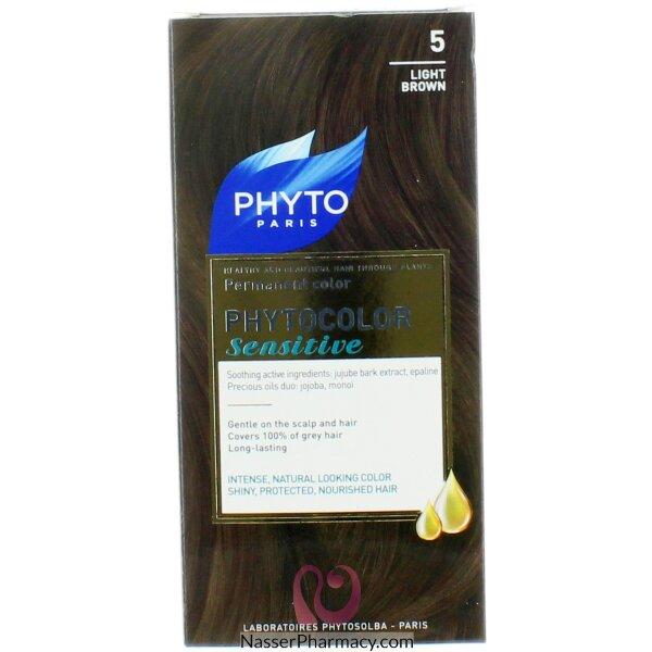صبغة  Phyto فايتو لفروة الراس الحساسه بنى خفيف  (5)