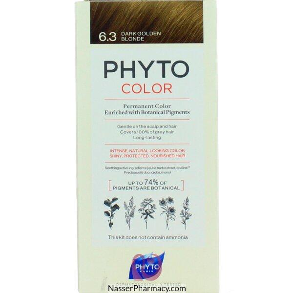 فايتو Phyto  صبغة دائمة للشعر - أشقر  ذهبي داكن 6.3