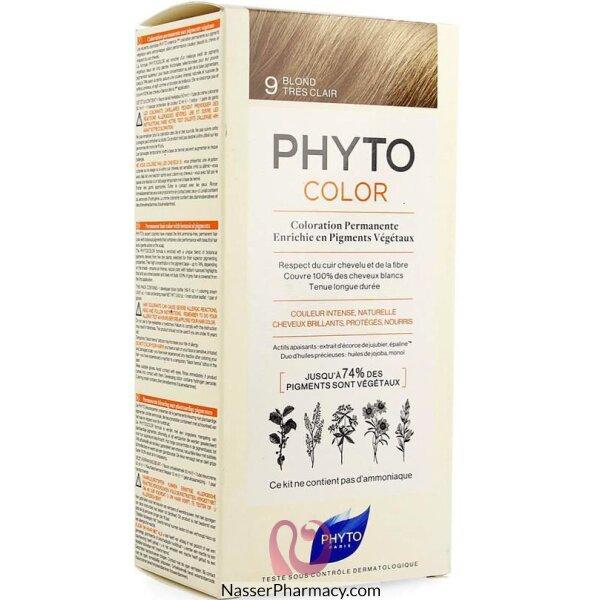 فايتو Phyto  صبغة دائمة للشعر أشقر فاتح جدا  9