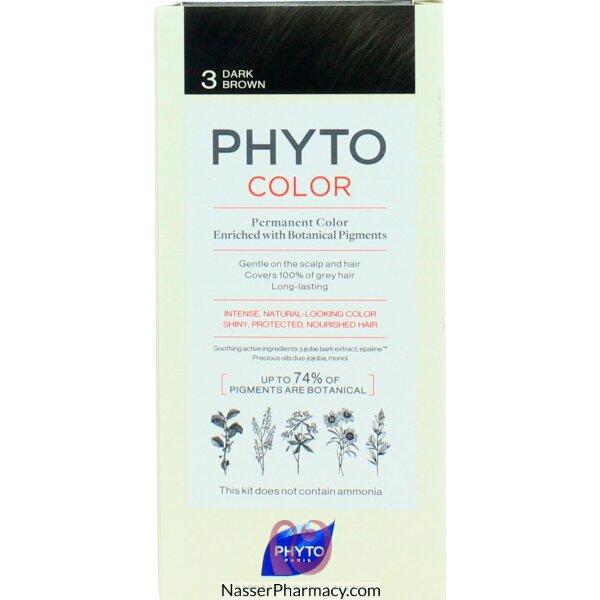 فايتو Phyto  صبغة دائمة للشعر - بني غامق 3