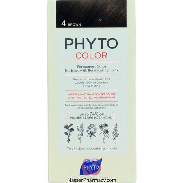 فايتو Phyto  صبغة دائمة للشعر - كستنائى