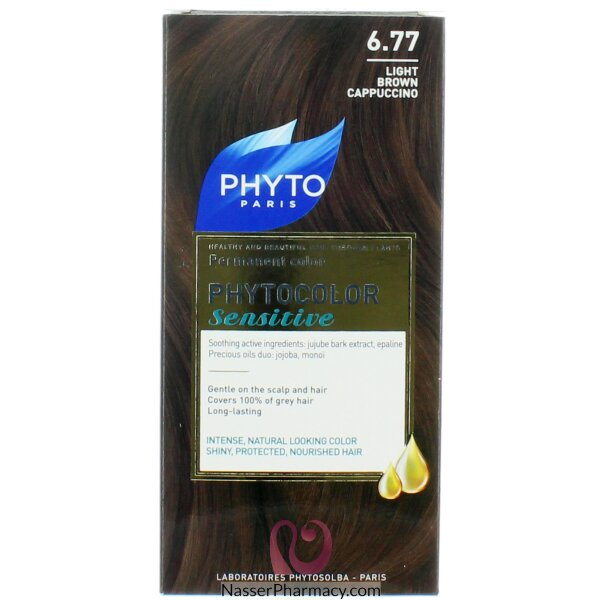 فايتو Phyto   صبغة لفروة الرأس الحساسة  بنى خفيف 6.77