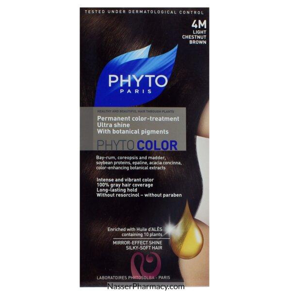 فايتو  Phyto صبغة للشعر -  بنى كستنائى خفيف فاتح 4m