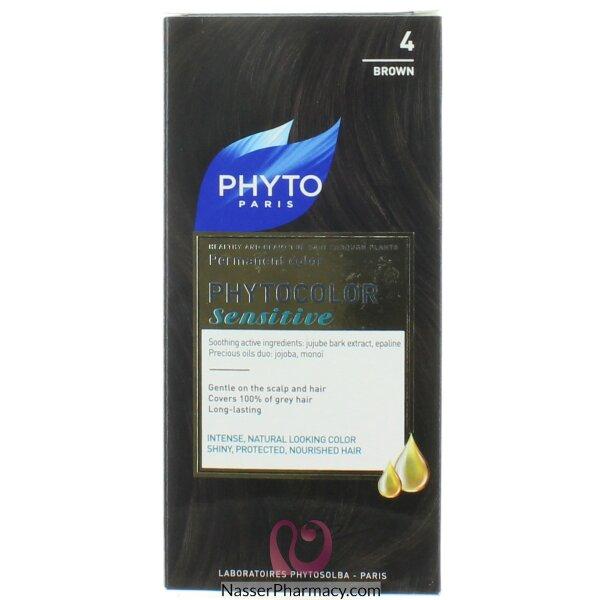 فايتوphyto  صبغة لفروة الراس الحساسه  بنى  (4)