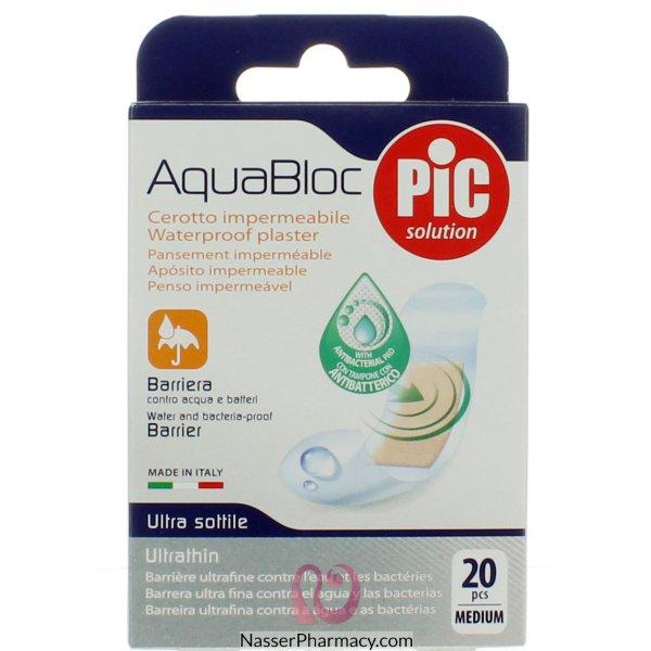 بيك ضمادة الجروح Aqua Block -19x72cm  20 قطعة