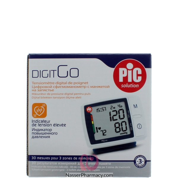 Pic Digit Go Wrist Blood Pressure Monitor
