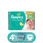 Pampers Baby-dry Diapers, Size 4+, Maxi Plus, 9-16 Kg, Value Pack, 40 Count