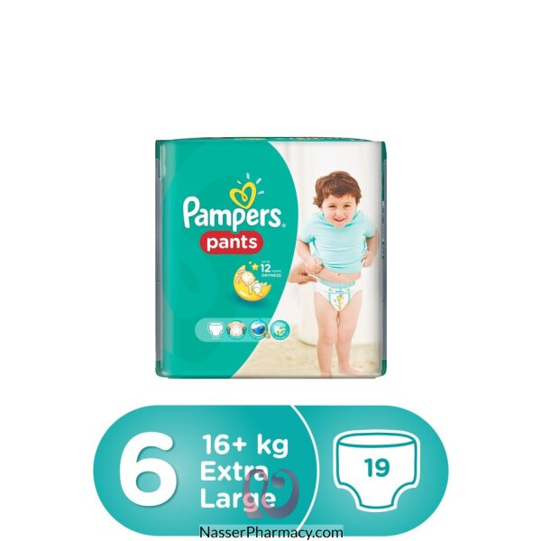 Pampers Pants Size 6 Extra Large Carry Pack 19 Pcs
