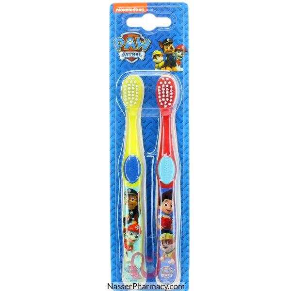 باو باترول Paw Patrol  توين فرشاة أسنان للأطفال (2 فرشاة)