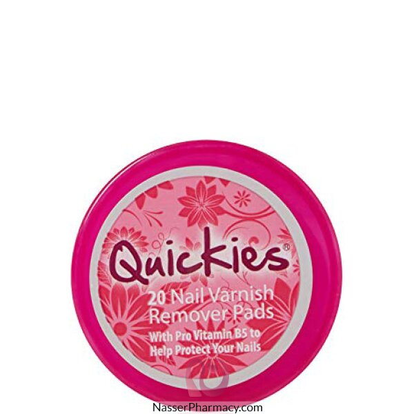 Quickies (e) Conv Nail Varnish Rem Pads 20's-23873