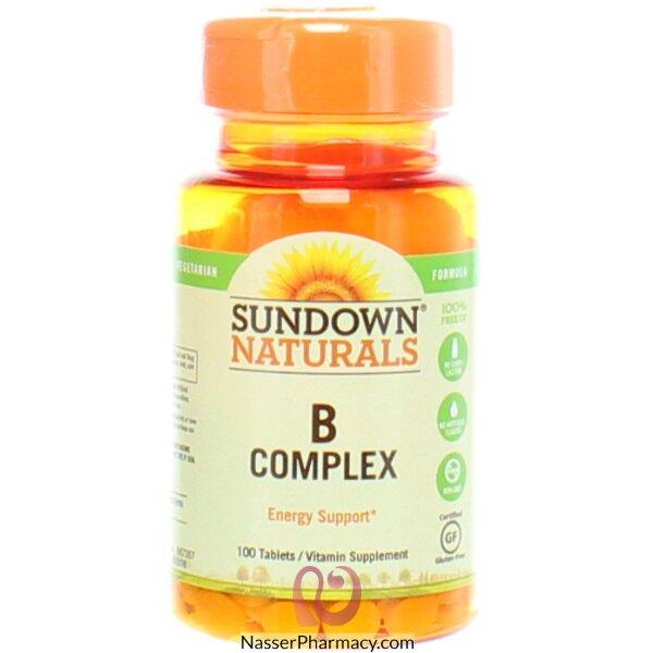 صن داون ناتشورالز Sundown Naturals, مجموعة فيتامينات B - عدد 100 قرص