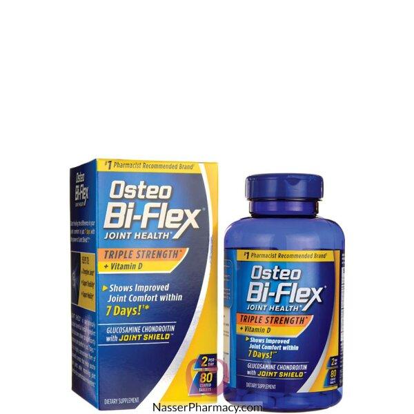 Osteo Bi-flex, صحة المفاصل، صحة ثلاثية مع فيتامين D، عدد، 80 حبة مغلفة