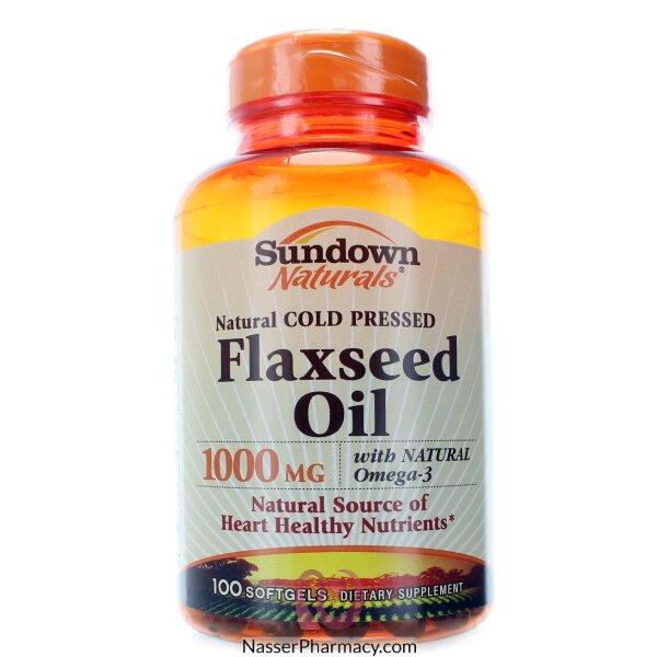 Sundown Naturals Flaxseed Oil  1,000 Mg -100 Softgels